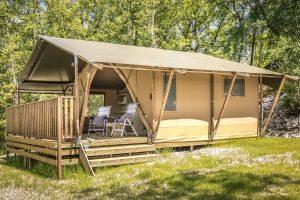 Safaritent met badkamer accommodatie voor een ultieme vakantie beleving 4 pers. boeken bij - glamping vakanties - www.luxetenthuren.nl