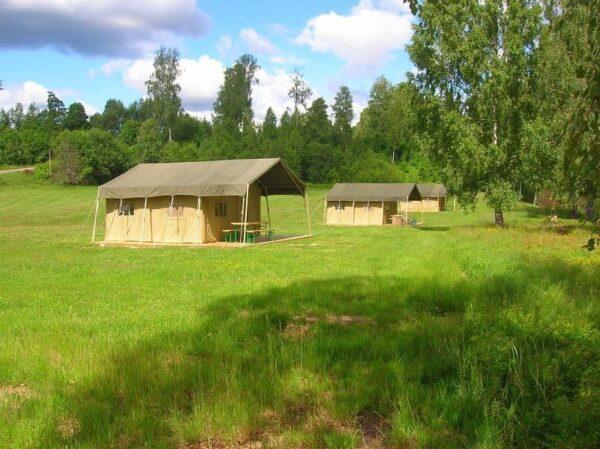 Camping Storängens in Zweden plattegrond - Glamping vakantie in een Luxe Safari of Lodgetent boek nu bij www.luxetenthuren.nl
