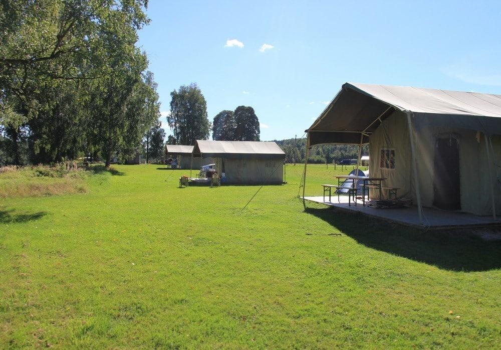 Camping Storängens in Zweden plattegrond - Luxe Glamping vakantie in een Safari of Lodgetent boek nu bij www.luxetenthuren.nl
