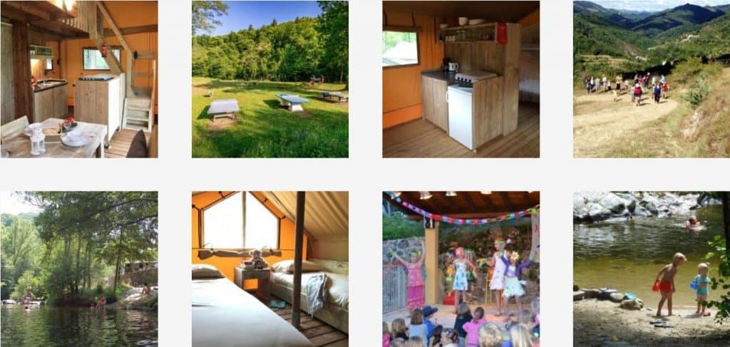 Camping l'Ardechois in Frankrijk - Glamping vakantie in een luxe Safari of Lodgetent - www.luxetenthuren.nl