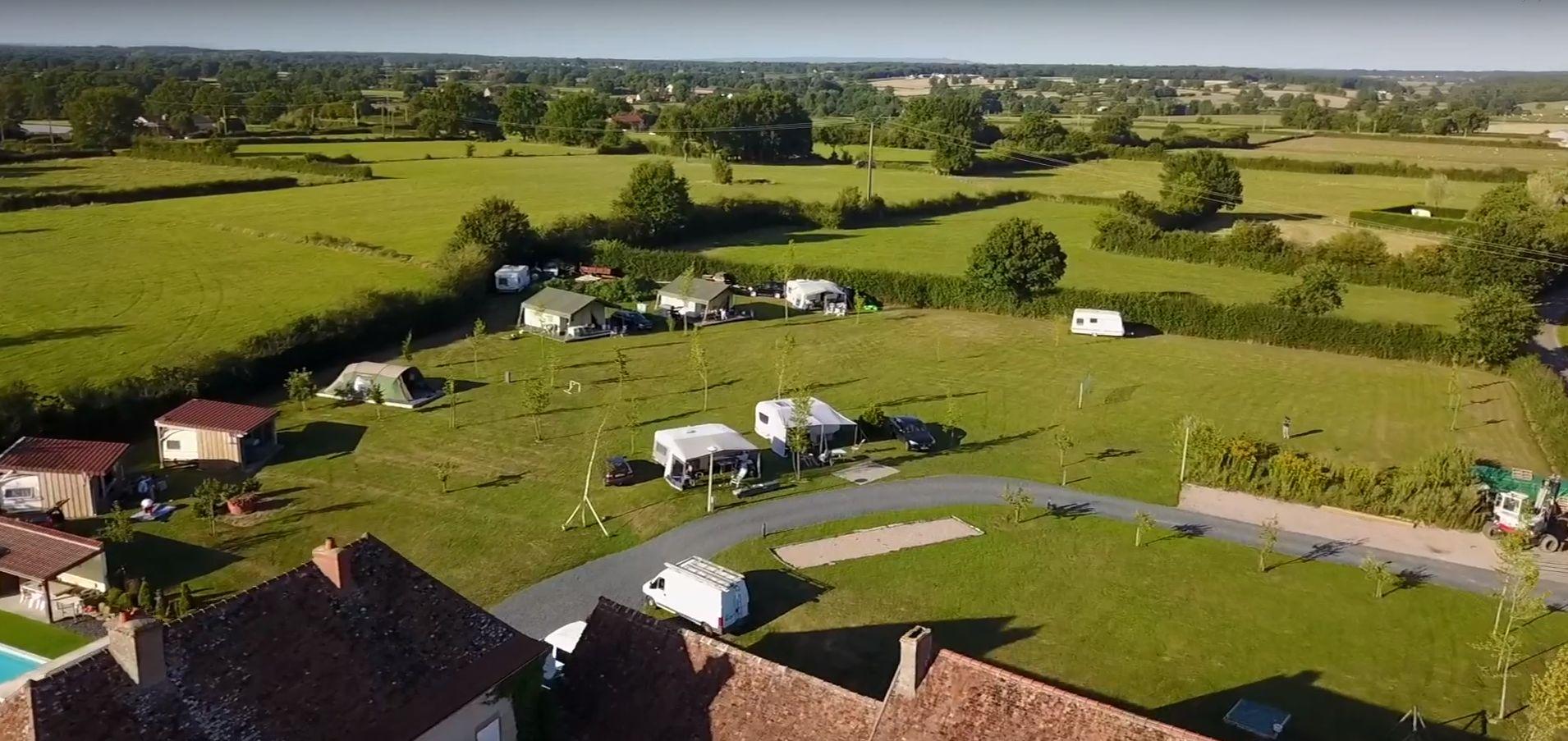 Camping La Maison Bornat Bourgogne - Glamping Frankrijk plattegrond - Luxe Tent Huren - www.LuxeTentHuren.nl
