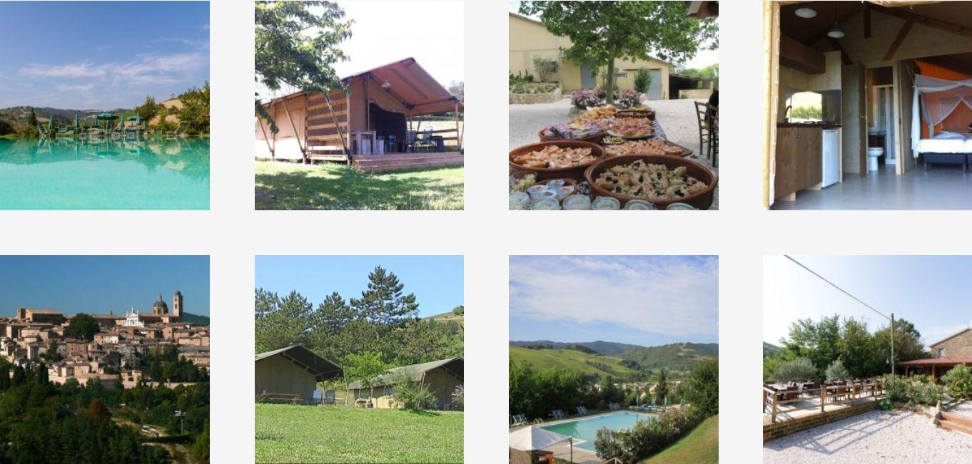 Camping Podere Sei Poorte Monteciccardo - Kleine Familiecamping Italie - www.LuxeTentHuren.nl