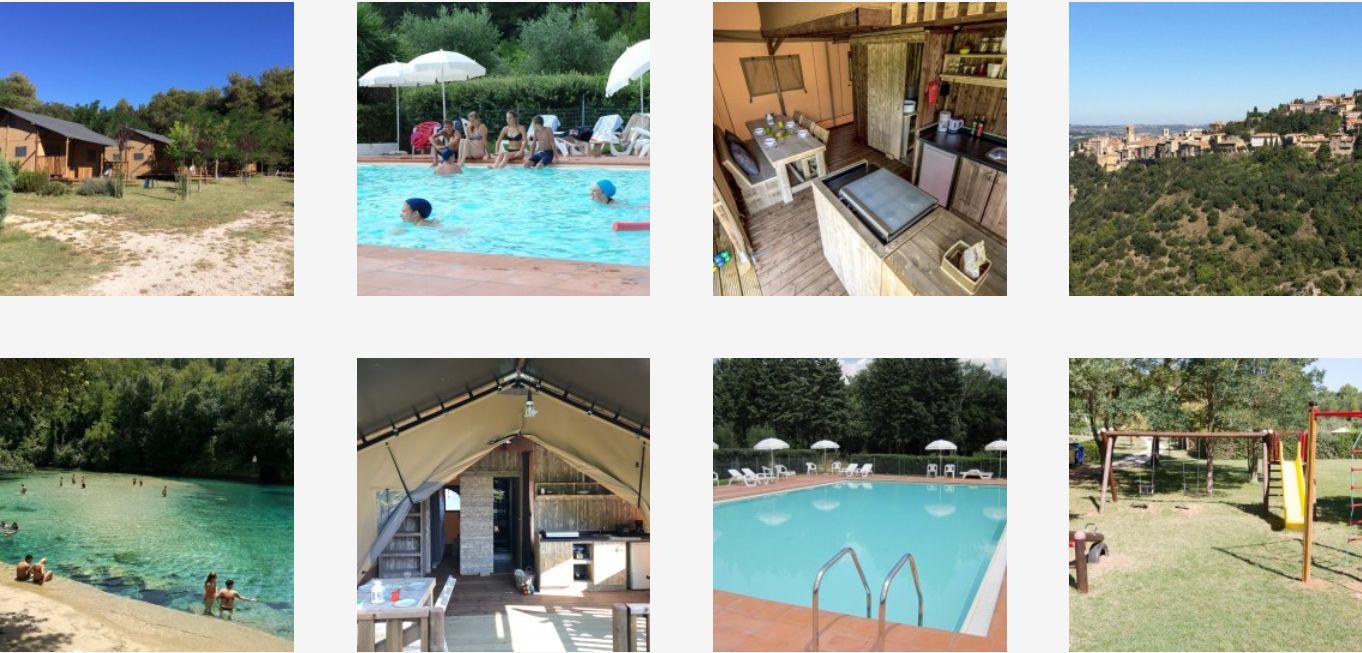 Glamping Monti Del Sol - Toscane, Umbria - Kleine Italiaanse Familiecamping Italie - www.LuxeTentHuren.nl