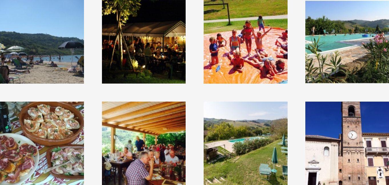 Glamping Podere Sei Poorte Monteciccardo - Kleine Familiecamping Italie - www.LuxeTentHuren.nl